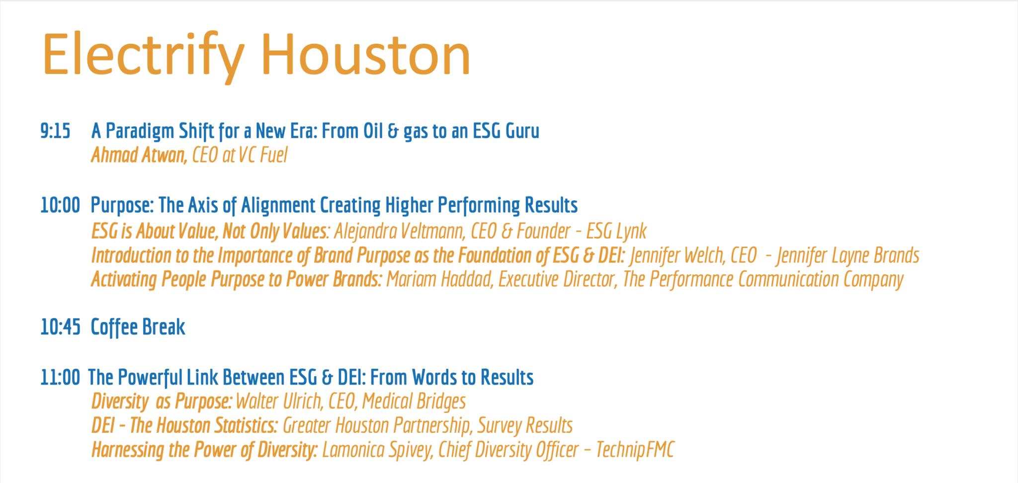 Keynote Speech @ Electrify Houston Summit - Ahmad Atwan